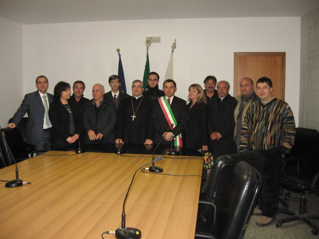 Mon. Michele Seccia con il Consiglio Comunale